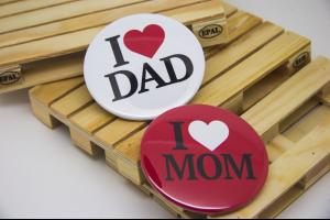 Κονκάρδες παραμάνα I Love mom, I Love dad